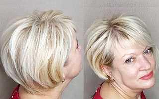 Варианты женских стрижек на короткие волосы для полного лица