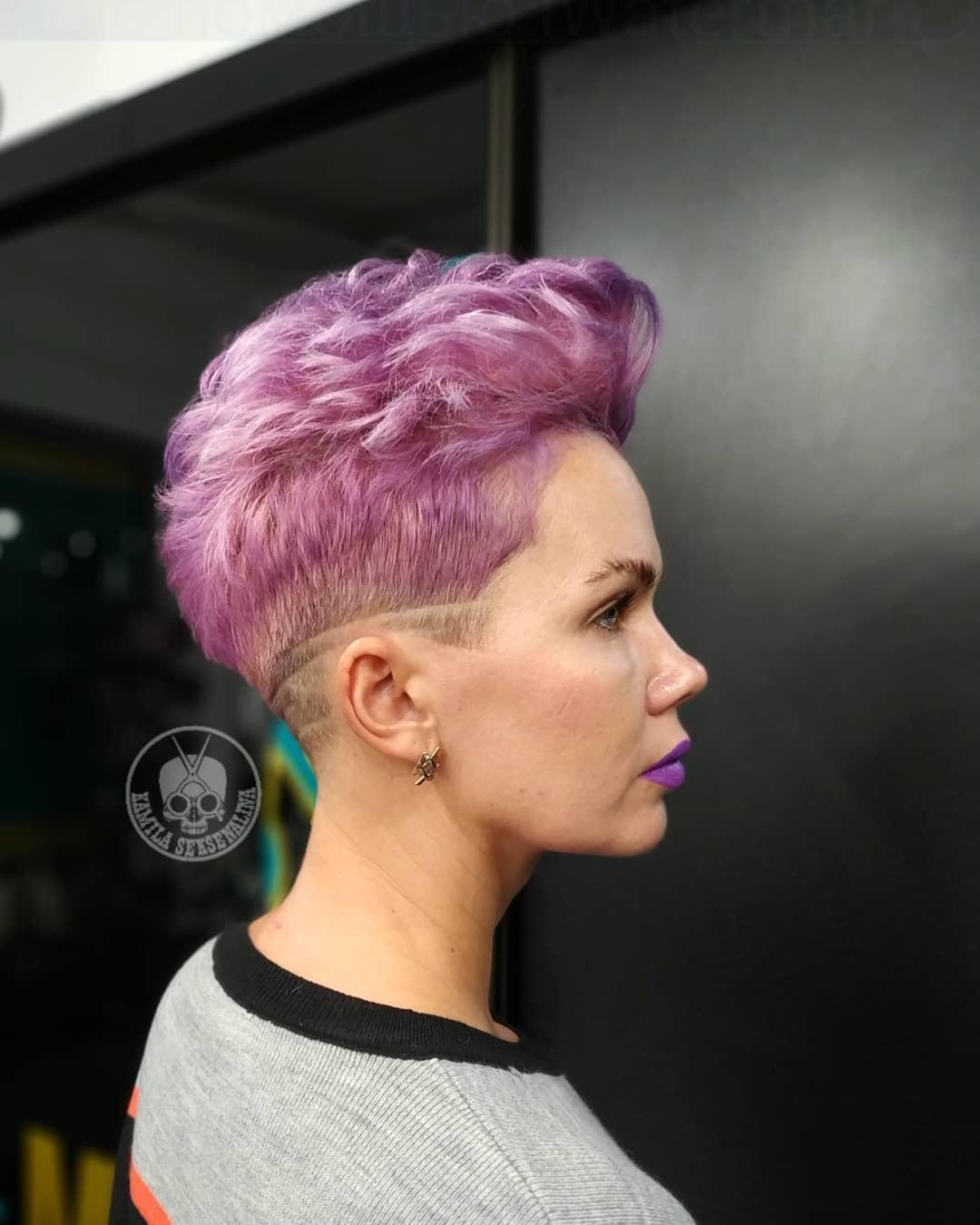 Креативное окрашивание волос на стрижку пикси