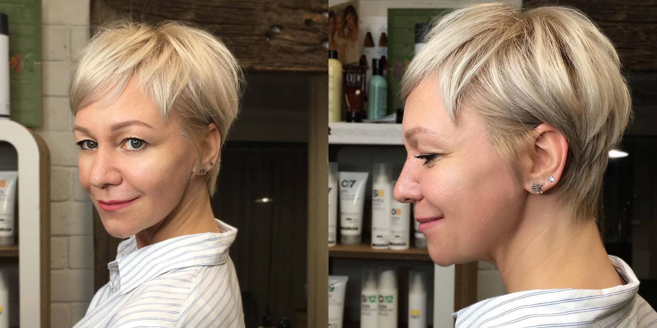 Стрижка пикси на короткие волосы_фото спереди сзади