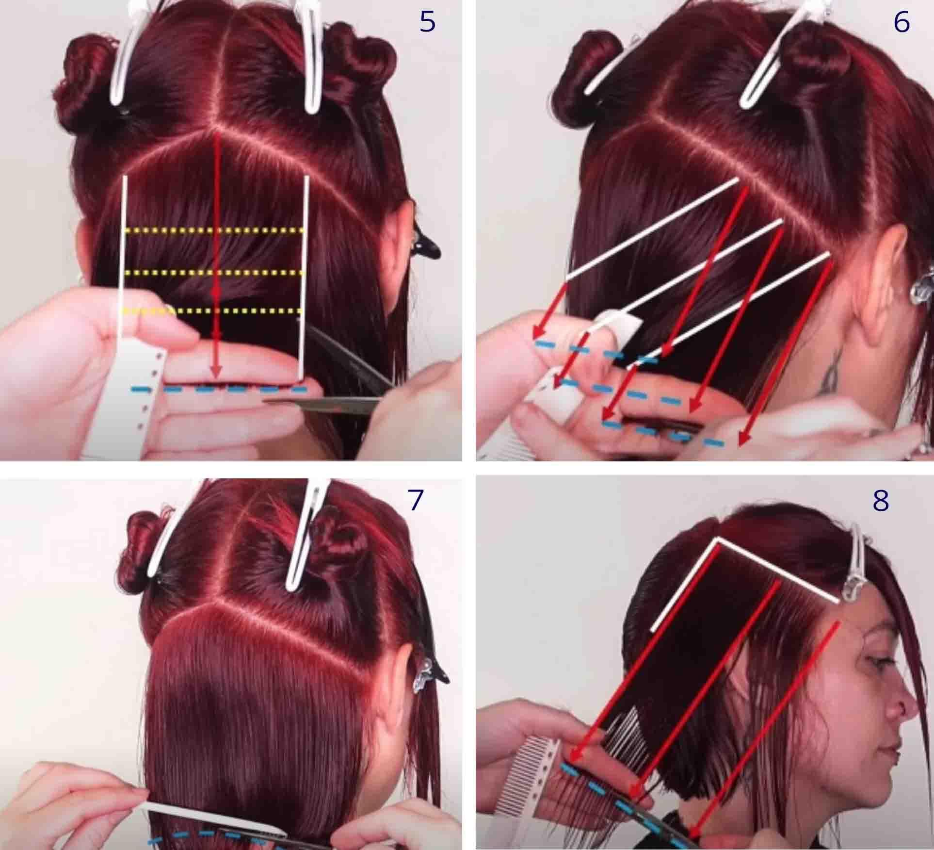 Технология женской стрижки боб