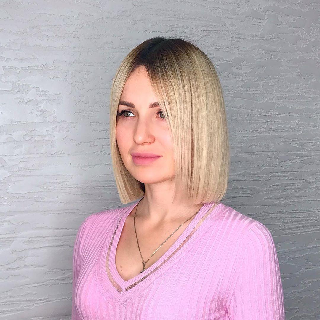 Стрижка каре на тонкие короткие волосы