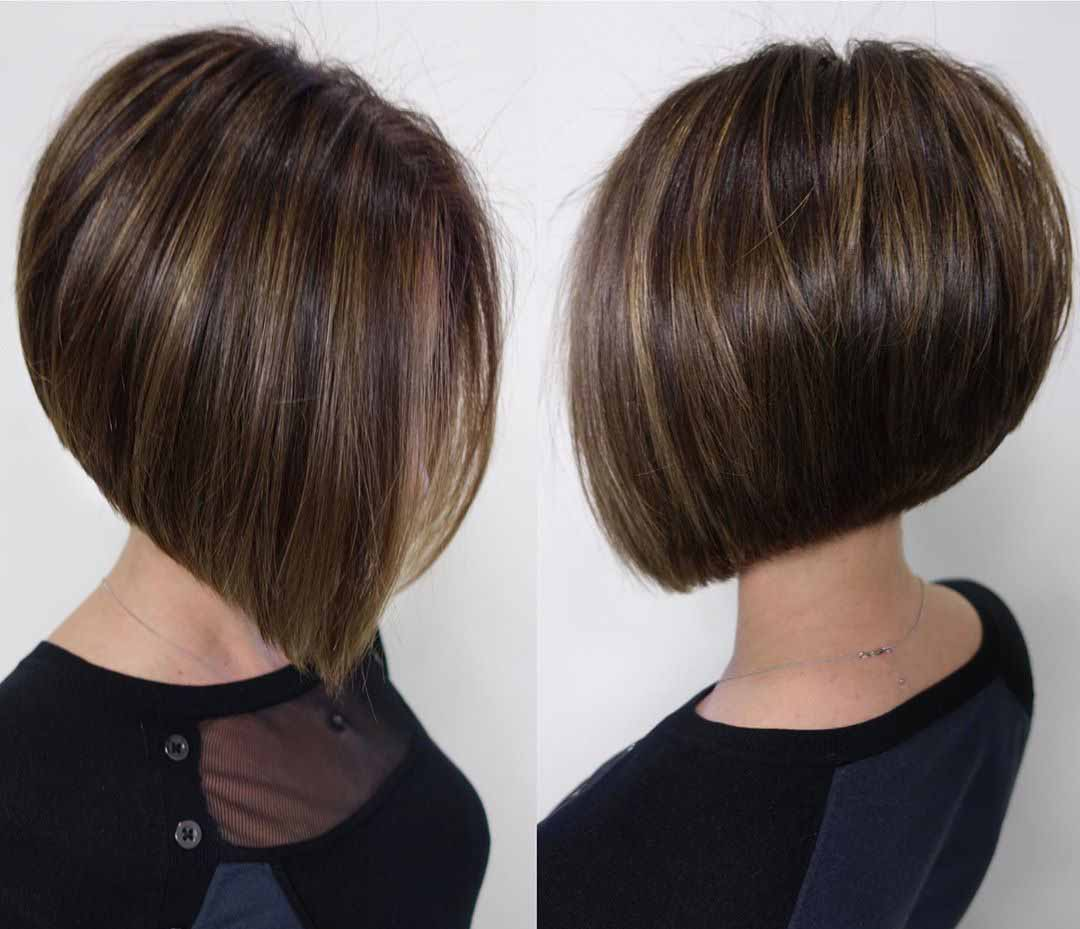 Стрижка каре на короткие волосы сзади
