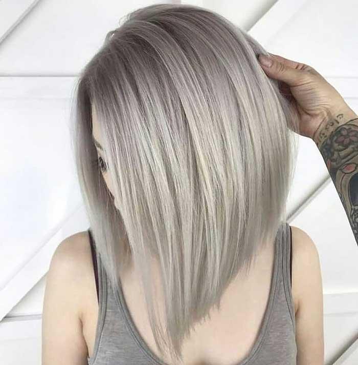 Каре платиновый блондин