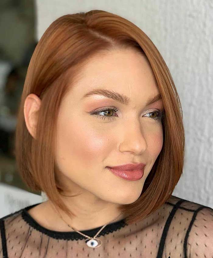 Каре для рыжих волос