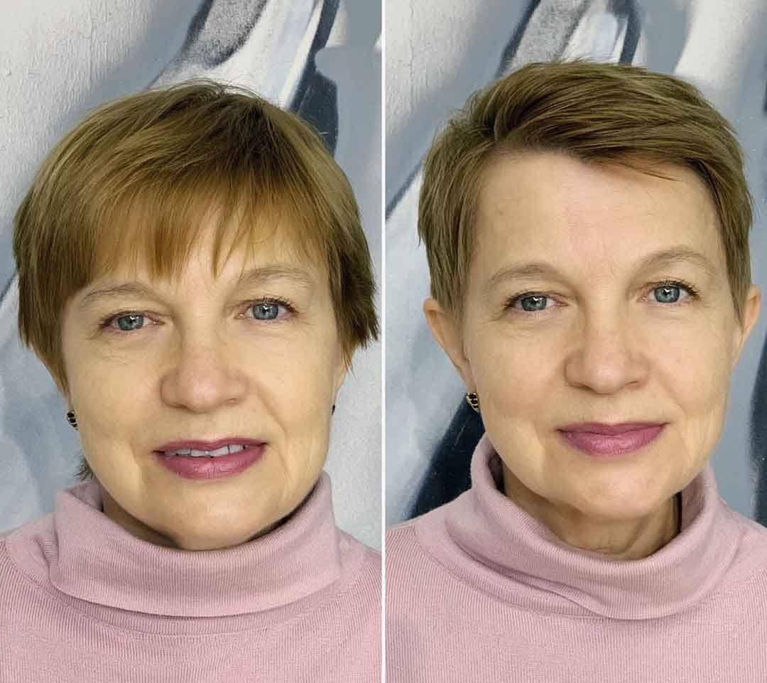 Форма стрижки для круглого лица