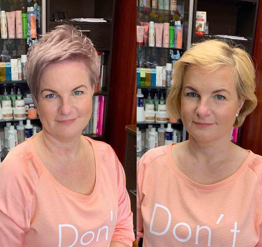 Гарсон стрижка фото до и после