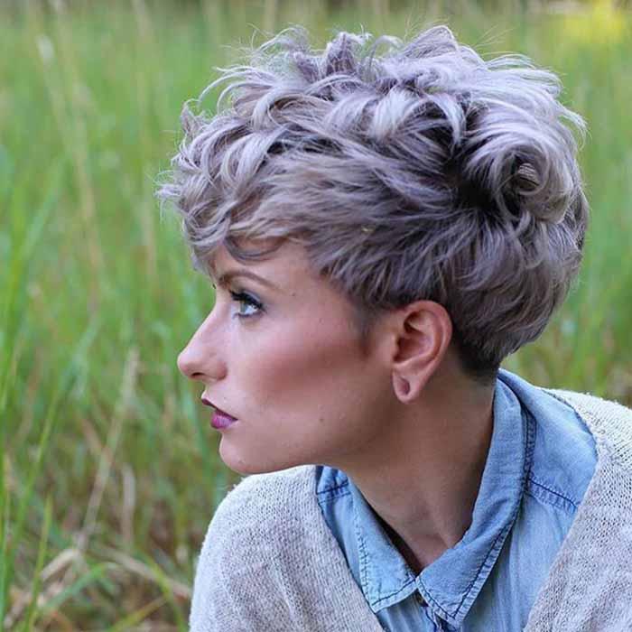 Стрижка Пикси на короткие кудрявые волосы
