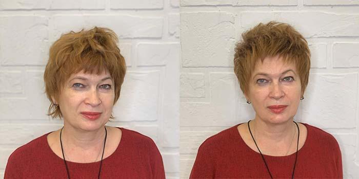 Короткая женская стрижка после 60