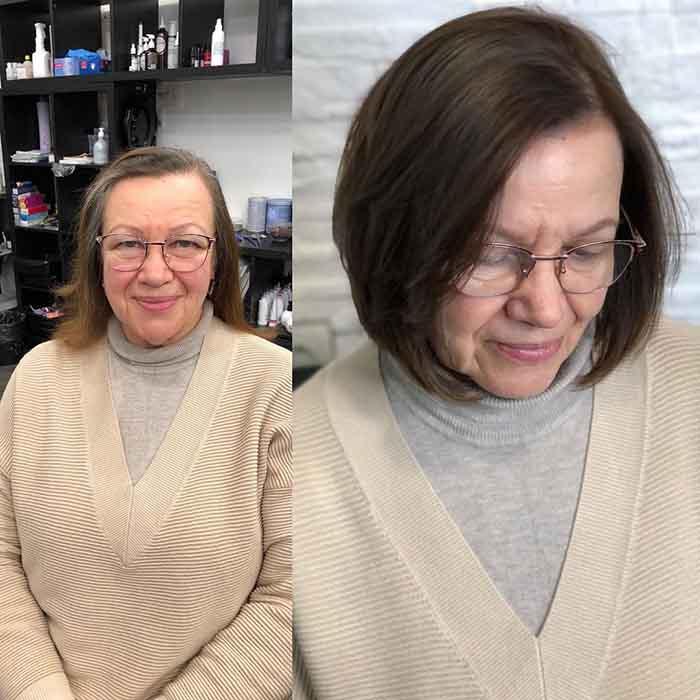 Короткая стрижка для женщины после 60 лет