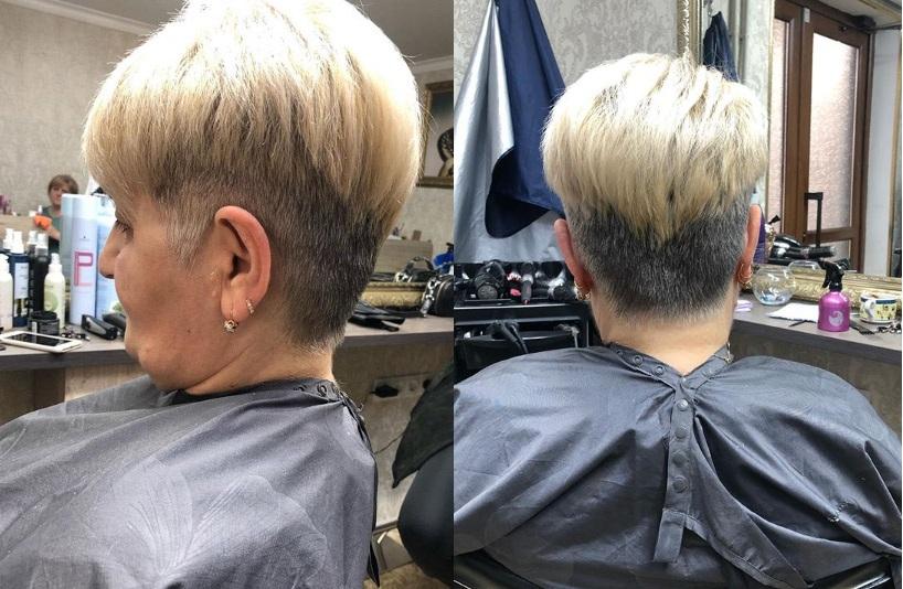 Женская стрижка для женщин после 60 для седых волос
