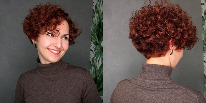 Короткая стрижка на курчавые волосы