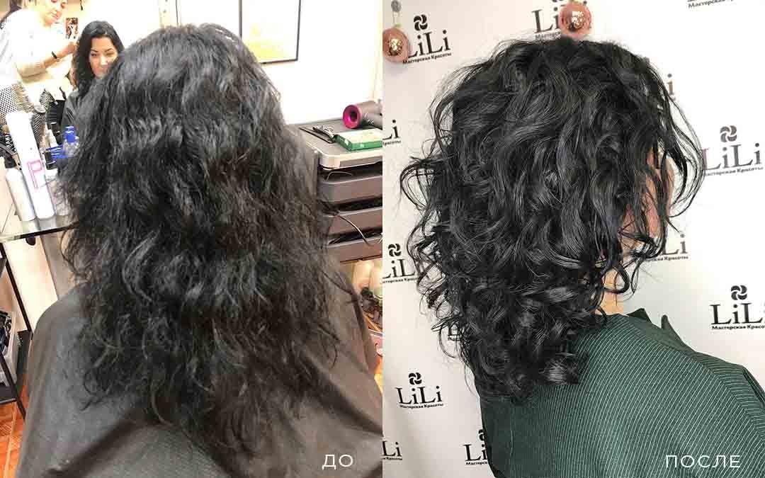 Короткая женская стрижка на вьющиеся волосы
