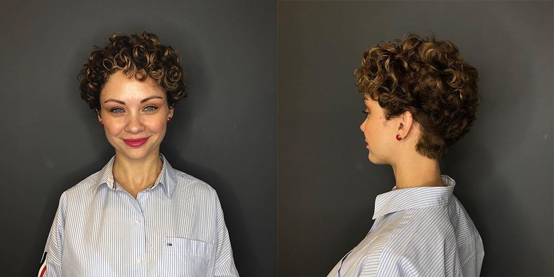 Короткая женская стрижка на кудрявые волосы фото