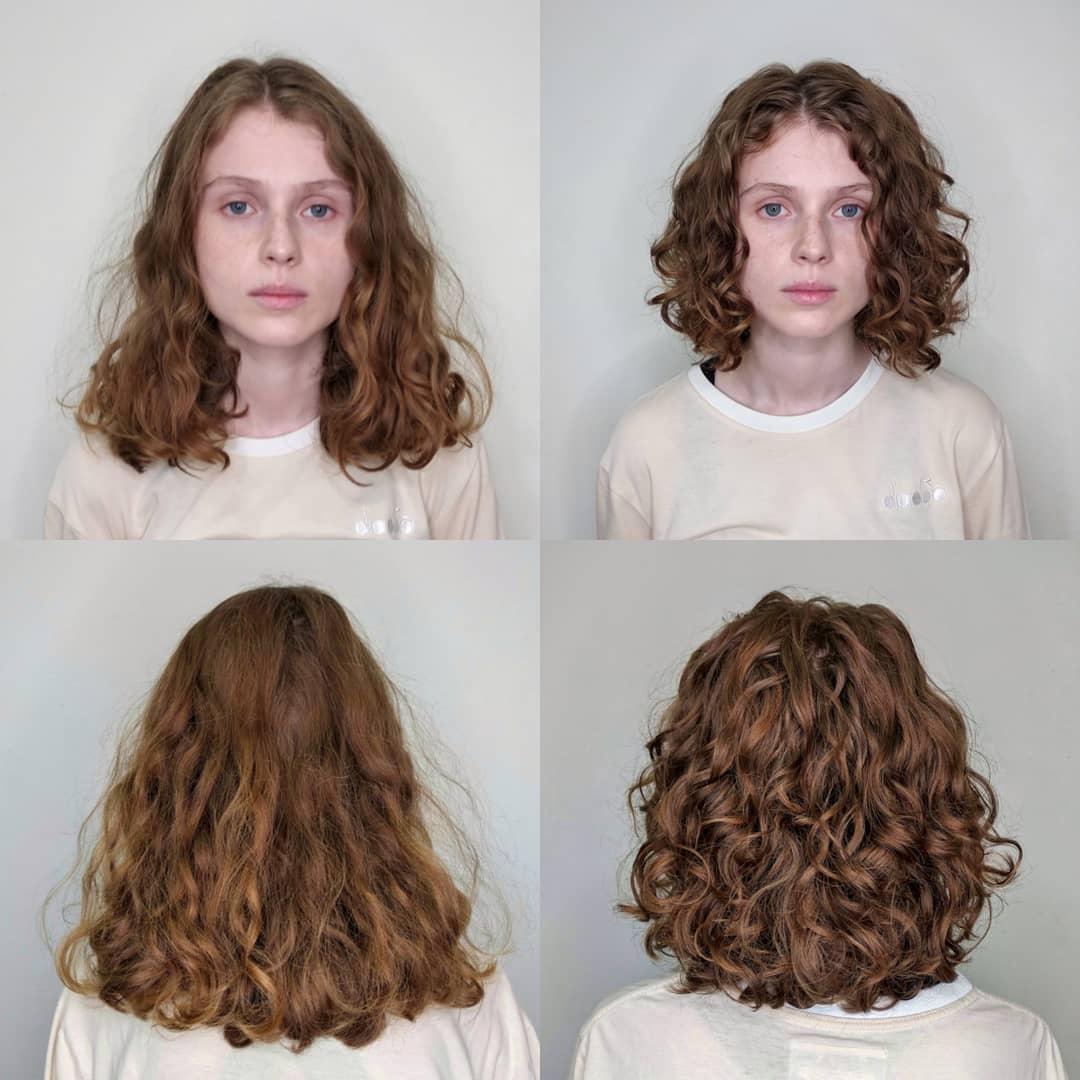Женская стрижка на кудрявые волосы