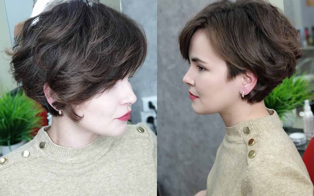 Стрижка боб каре на волнистые волосы