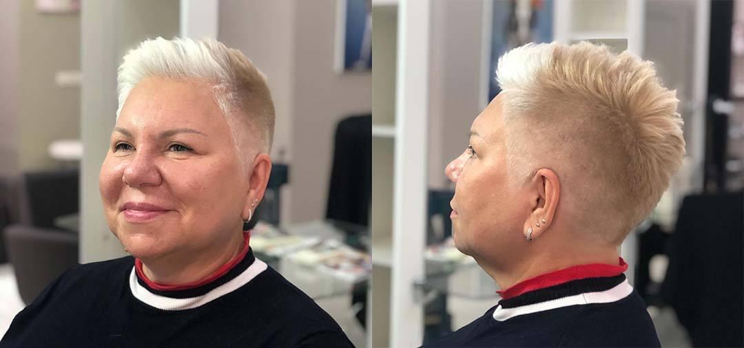 Женская стрижка для круглой формы лица для полных женщин