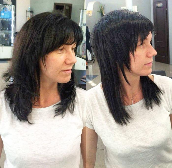 Дебют на средние волосы