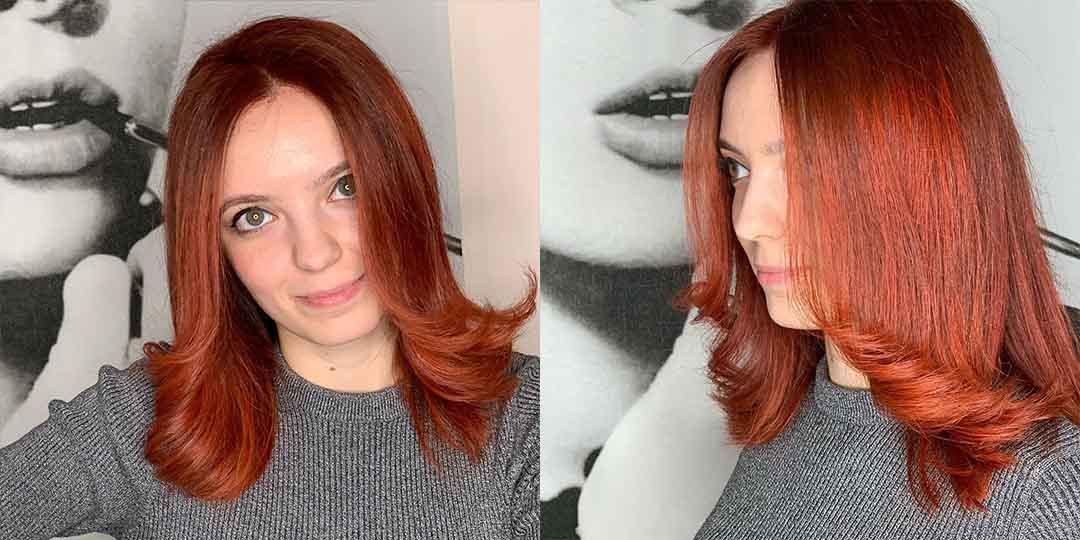 Укладка стрижки лесенка на средние волосы концами наружу