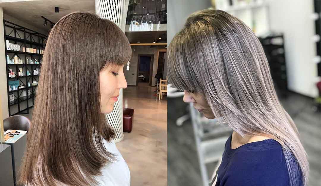 Стрижка лесенкой на средние волосы с челкой