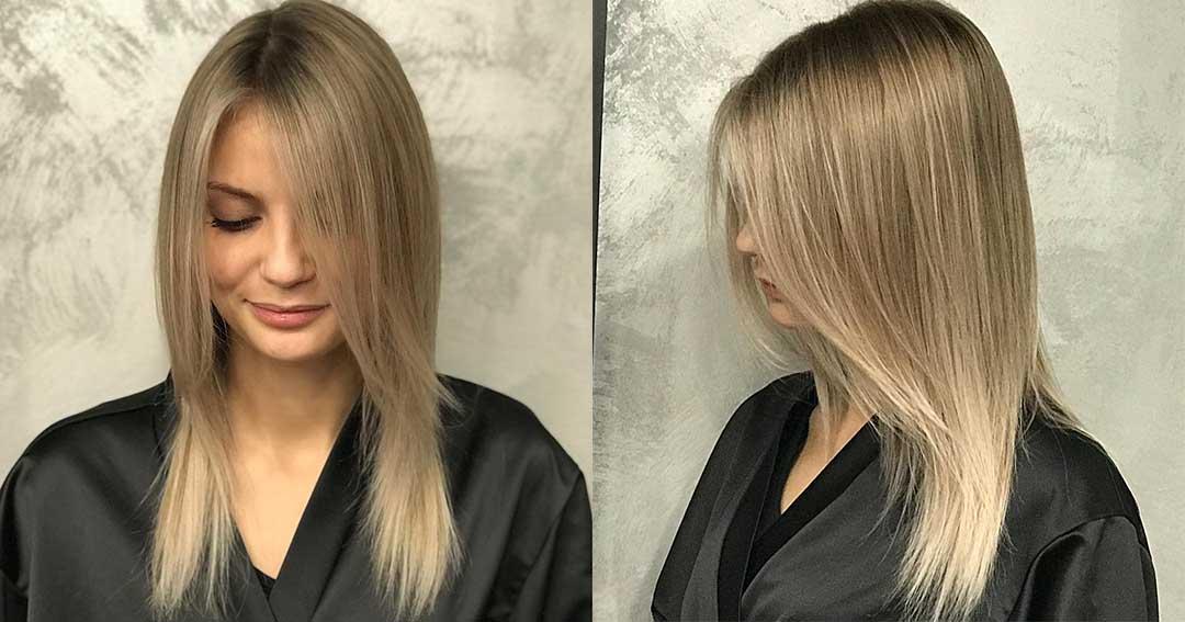 Стрижка на средние и тонкие волосы лесенкой