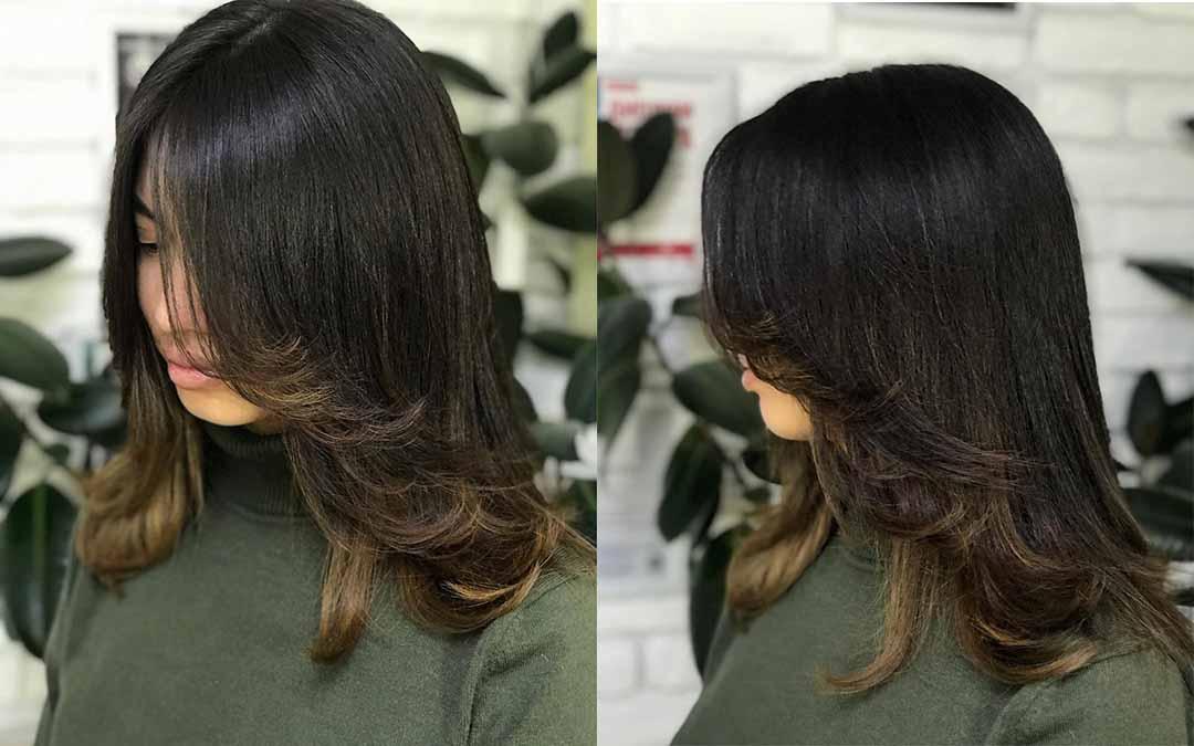 Виды лесенок на средние волосы