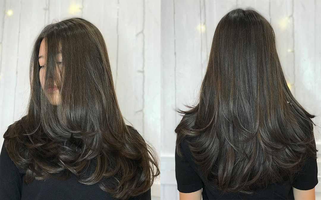 Стрижка каскад лесенка на средние волосы