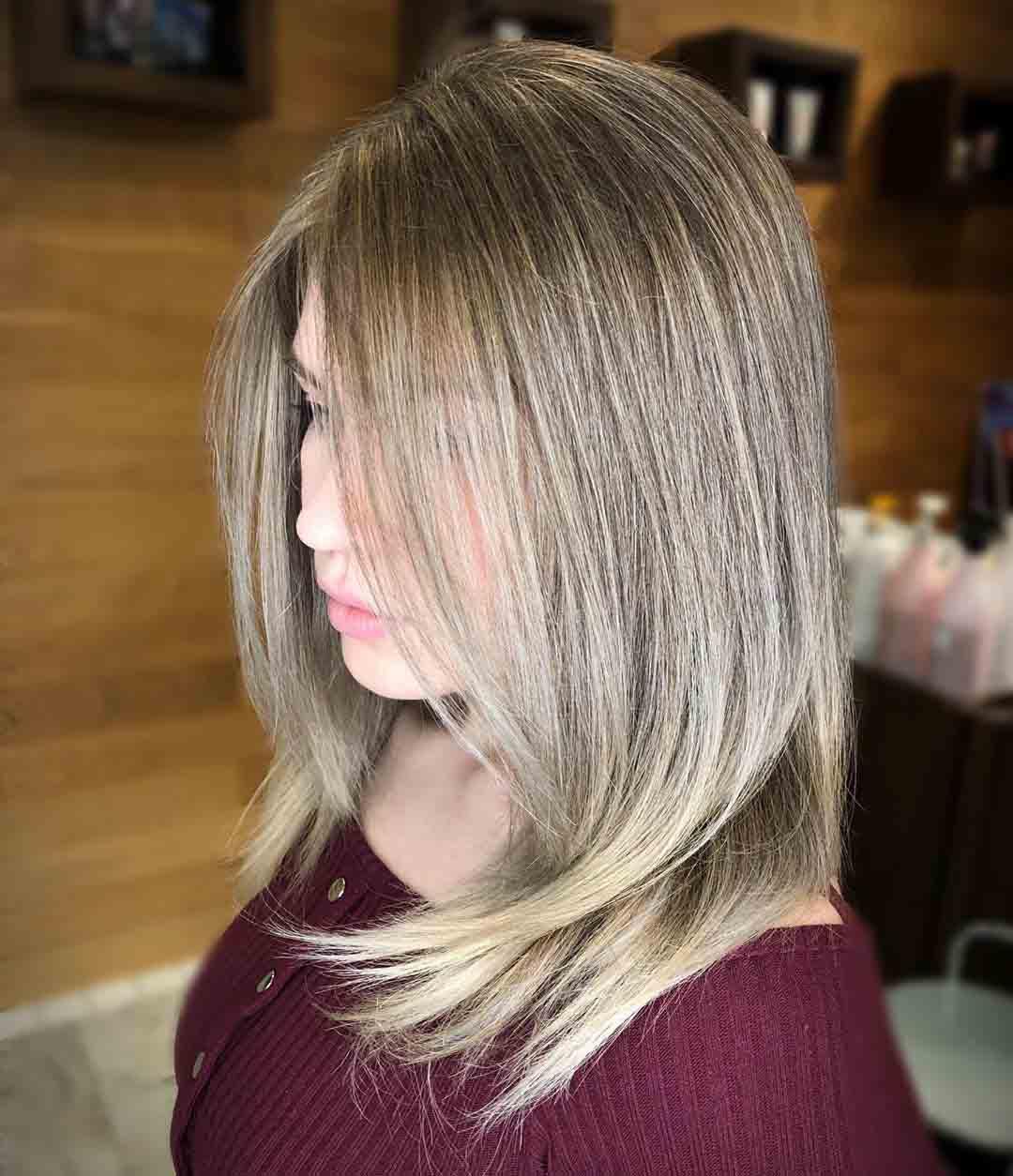 Airtouch окрашивание на русые волосы на стрижку лесенка