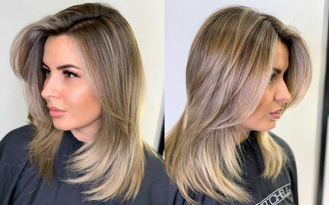 Cтрижка рваная лесенка на средние волосы