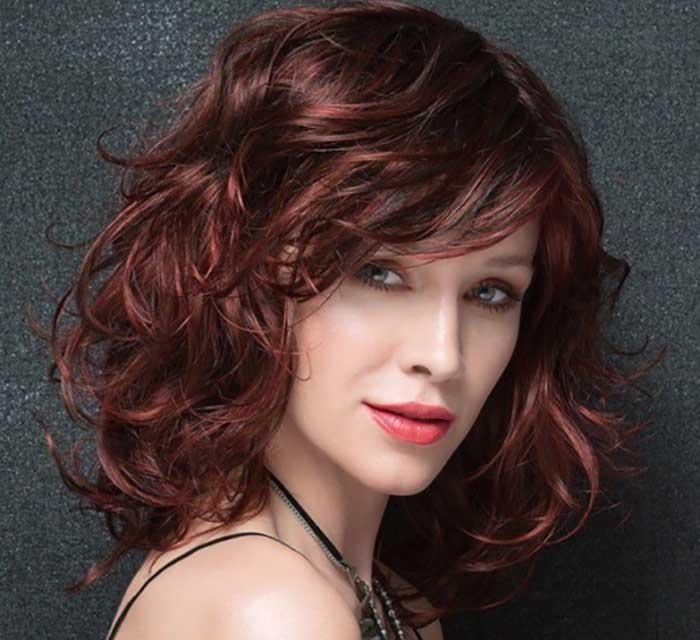 Стрижка итальянка на средние волнистые волосы