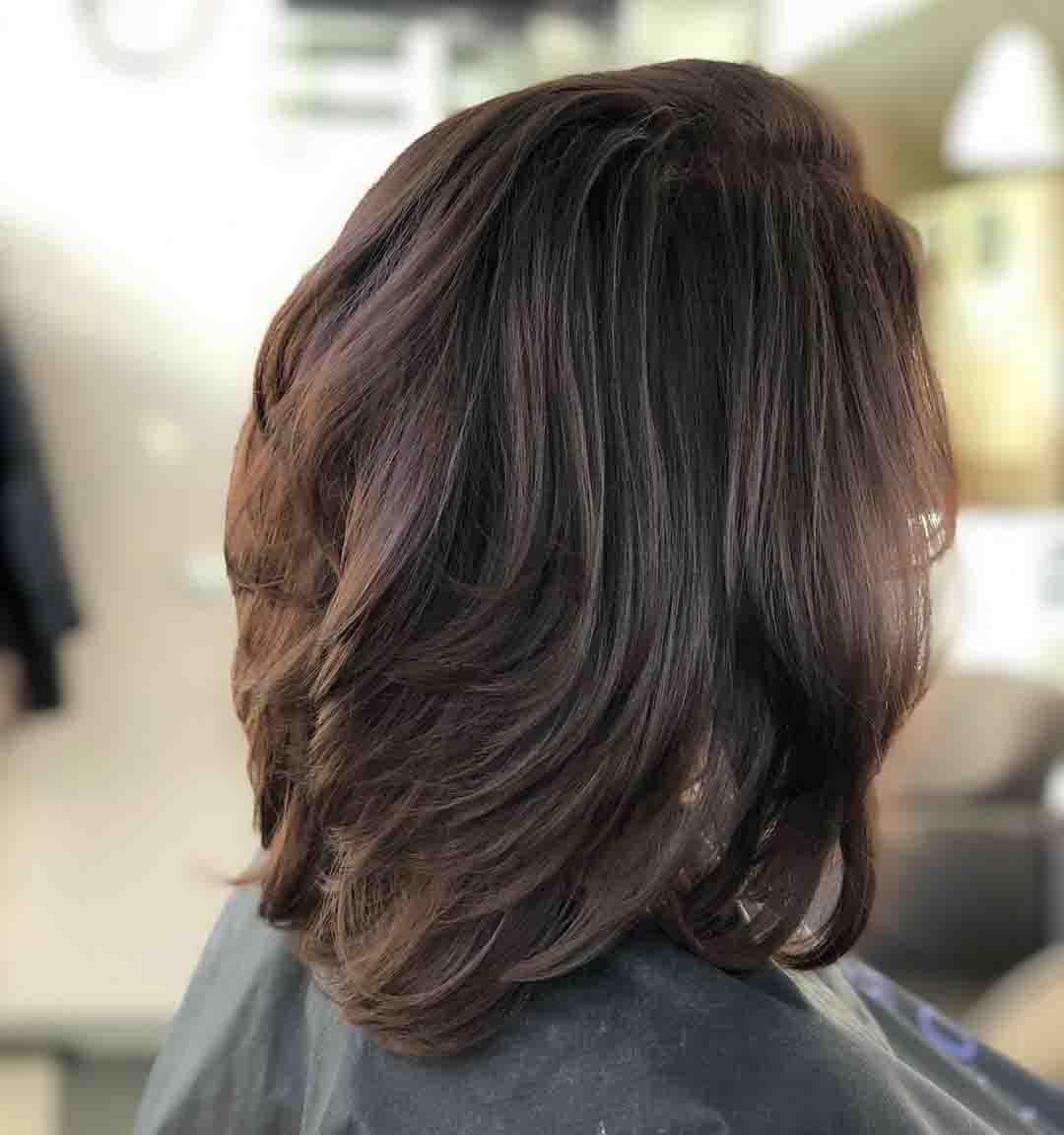Стрижка итальянка на средние волосы вид сзади