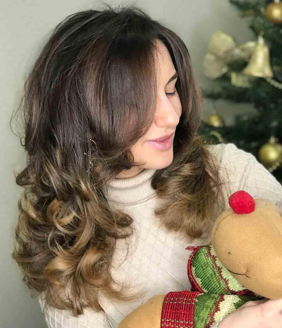 Итальянка стрижка женская на длинные волосы