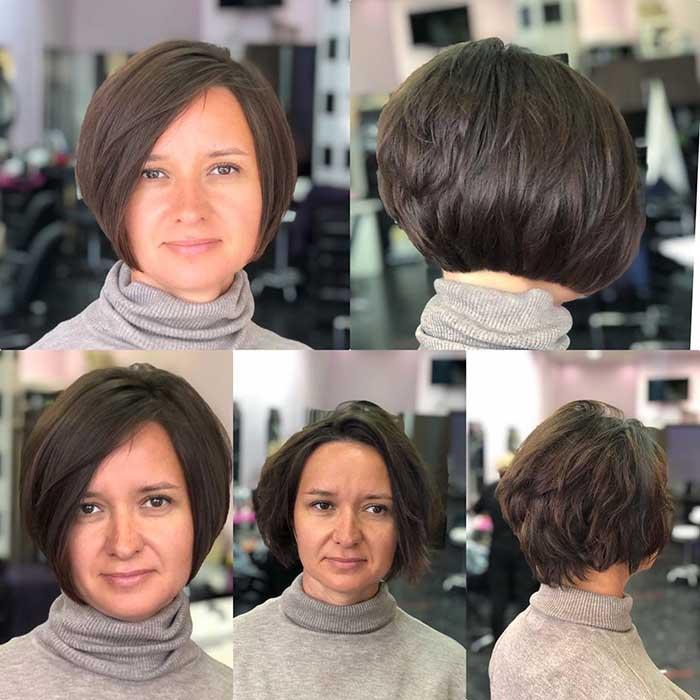 Градуированное каре для волнистых волос