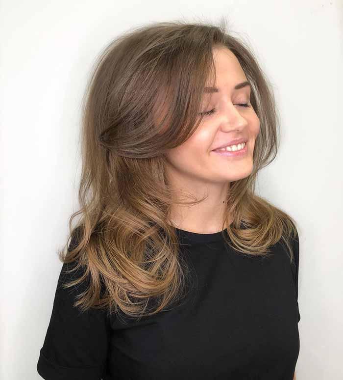 Итальяночка на средние волосы