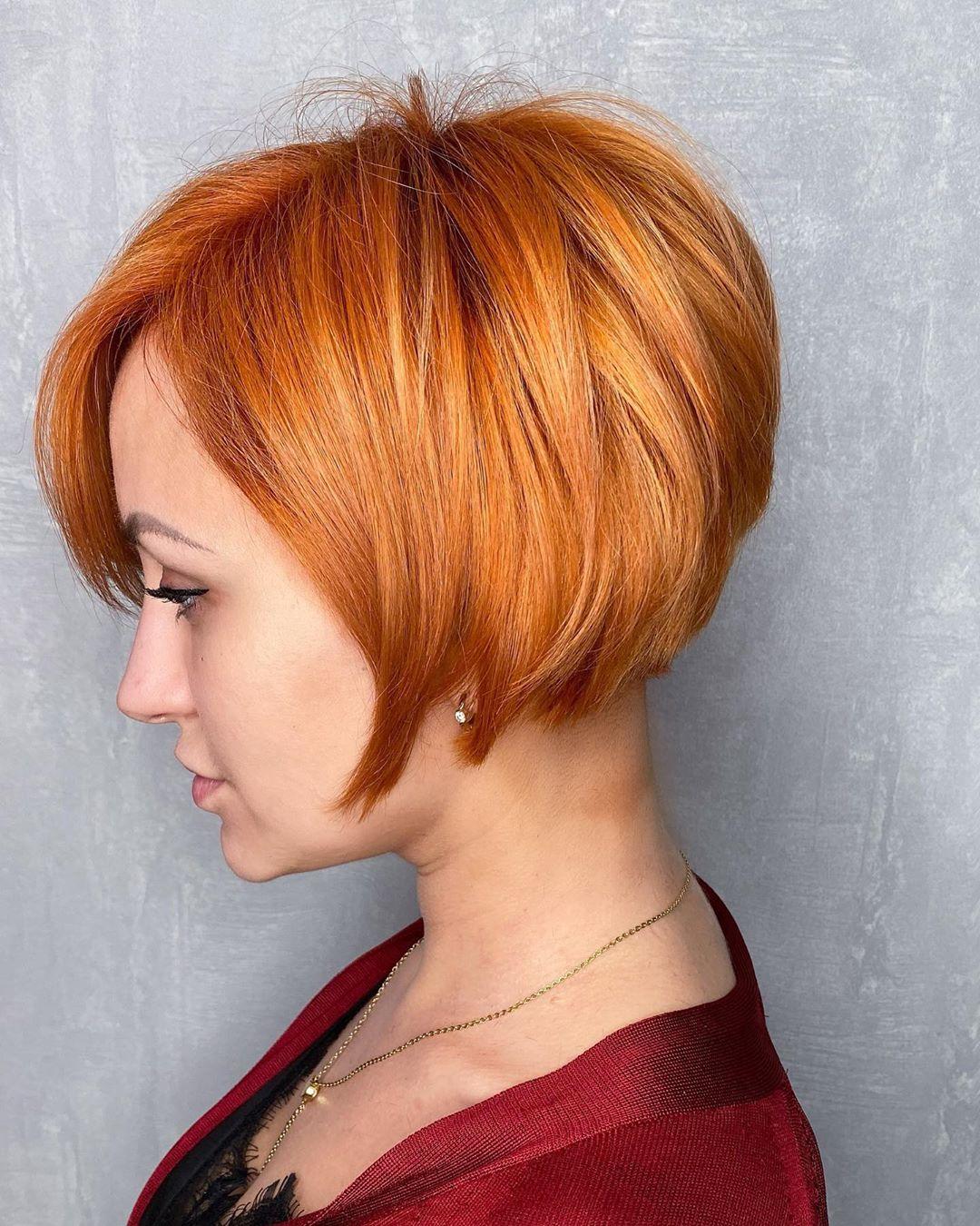 Каре шапочка для рыжих волос