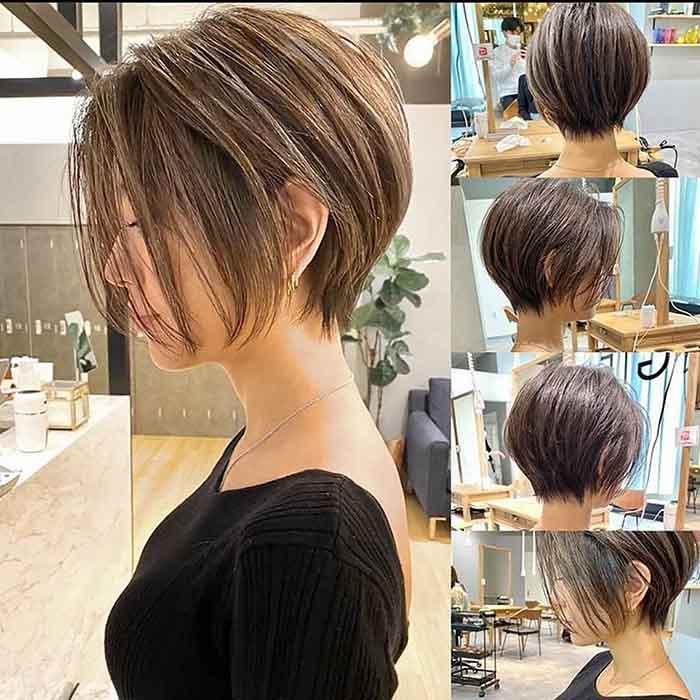 Пикси-боб на средние волосы стрижка