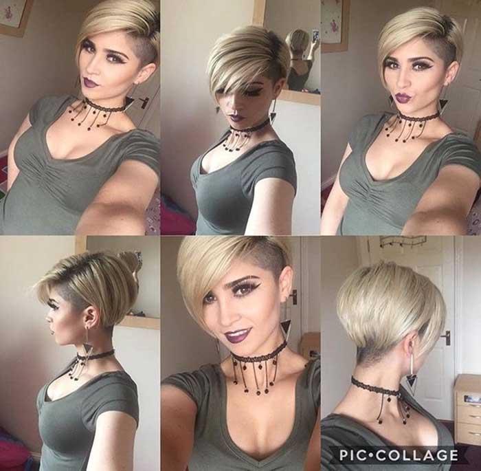 Женская стрижка пикси боб фото со всех сторон