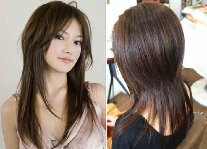 Стрижка шапочка на средние волосы вид сзади и спереди