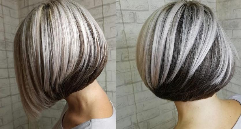 Окрашивание каре на средние волосы