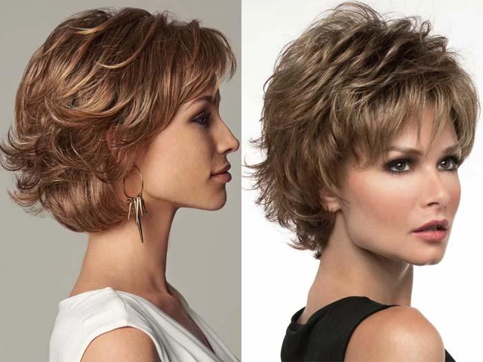 Стрижка каприз на средние волосы вид спереди и сзади