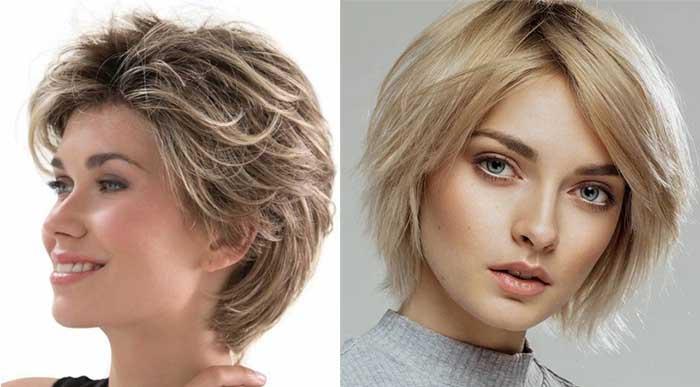 Стрижка каприз на средние волосы без челки