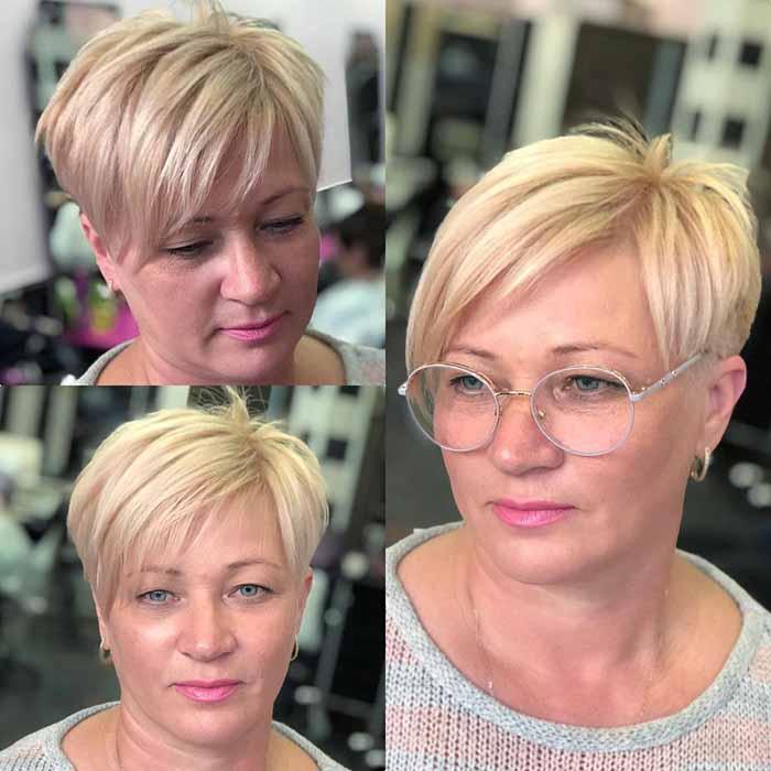 Стрижка пикси для женщин за 50 лет для тонких волос