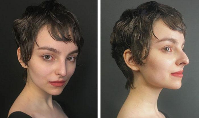 """Короткая женская стрижка """"под мальчика"""" после 35 лет"""
