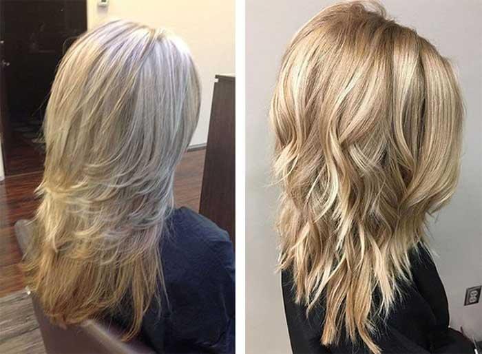 Стрижка аврора на прямые волнистые волосы