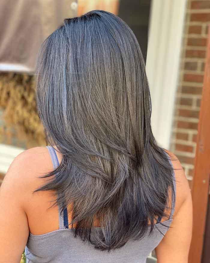 Стрижка аврора на прямых волосах