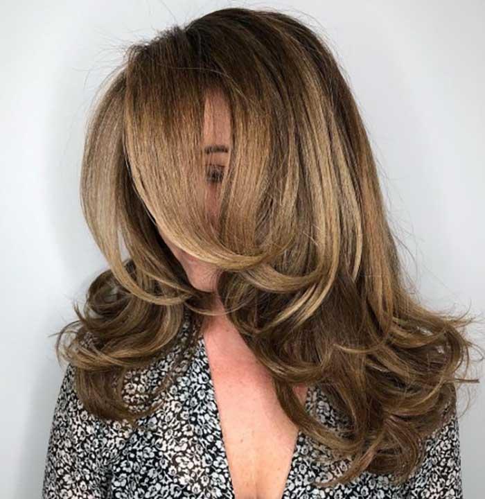 Балаяж на стрижка аврора на длинные волосы