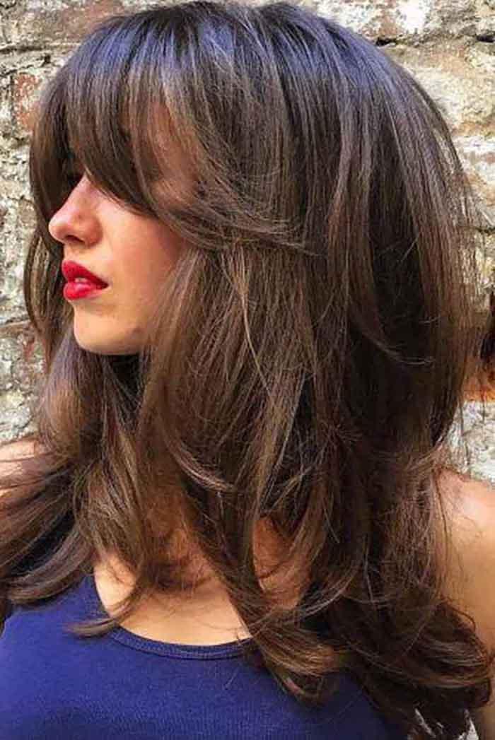 Стрижка аврора на длинные волосы